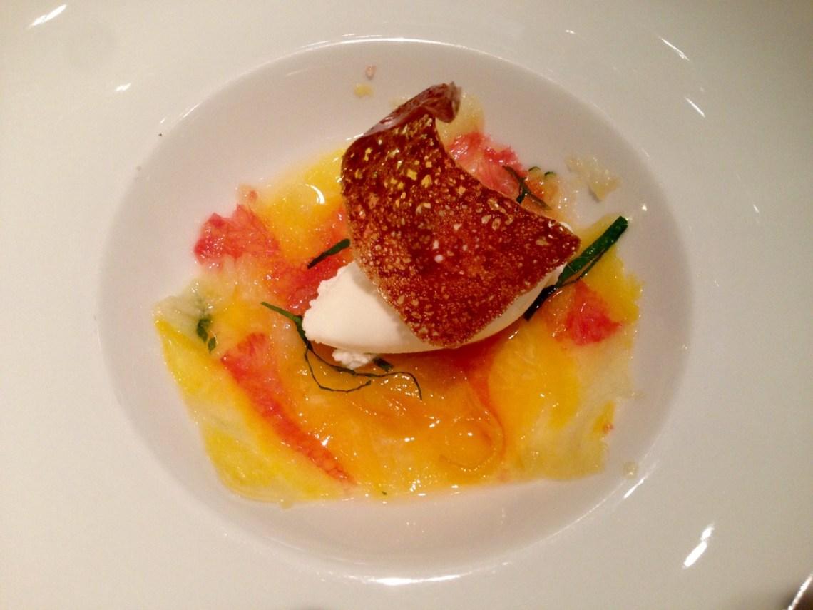 Restaurant Les Trois Petits Bouchons - Carpaccio d'agrumes
