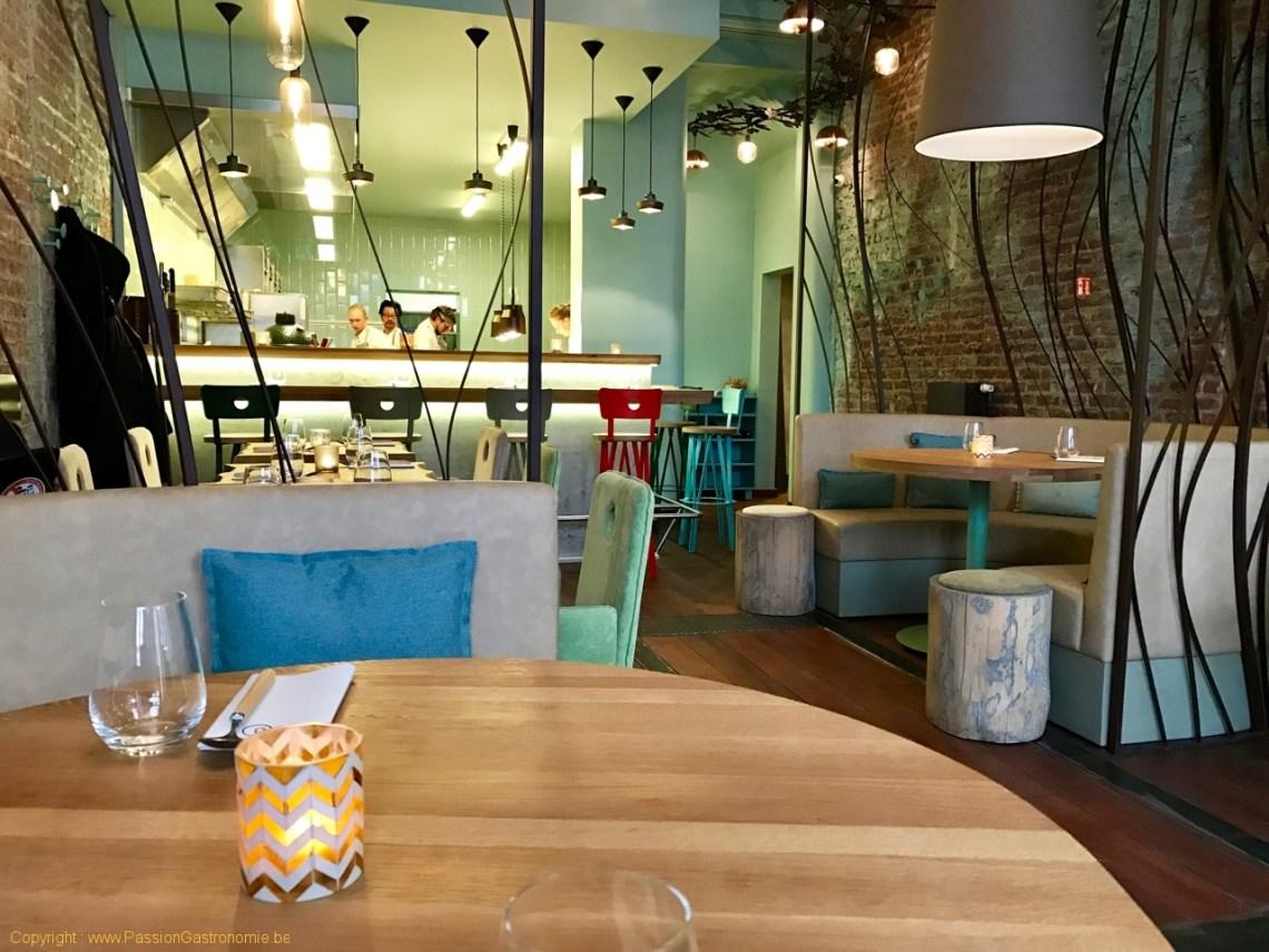 Restaurant San Sablon Bruxelles - La cuisine ouvert