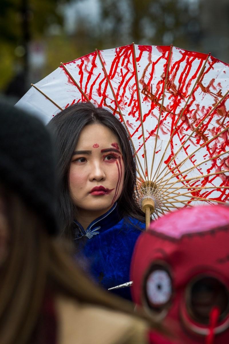 Photo : la Marche des zombies à Montréal Geisha