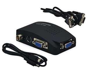 KanaaN BNC S-Vidéo à VGA Convertisseur (PAL / NTSC) BNC adaptateur convertisseur convertir le signal S-vidéo VGA – Résolution jusqu'à 1920×1200