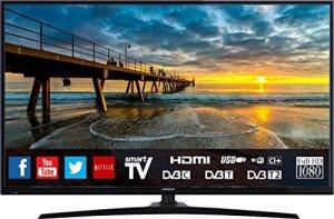 Téléviseur HITACHI de 32″ (80,01cm) FHD / SMART TV: Netflix, Youtube, Internet, facebook / Wifi / 3 HDMI / VGA-PC / USB (Enregistreur TV + Lecteur multimédia)