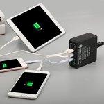 Atolla Quick Charge 3.0 Chargeur Rapide USB 40W + Universel 3 Ports Charge USB 2.4A + USB C Type-c Chargeur Secteur 5V/3A et QC 3.0 Power Delivery pour Smartphone aver charge rapide(Noir)
