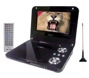 Nevir NVR-2738 Dessus de table 7″ 480 x 234pixels Noir – Lecteurs DVD/Blu-Ray portables (17,8 cm (7″), 480 x 234 pixels, LCD, 4:3, 16:9, 250 cd/m², 200:1)