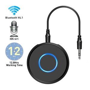 Récepteur Bluetooth V4.1 , SonRu Mini Lecteur de Musique Adaptateur Audio Sans Fil Mains Libres, Équipement de Voiture avec Système d'Enceintes Stéréo 3.5mm, Aux Entrée, pour Maison / Voiture
