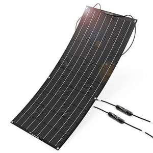 ALLPOWERS 100W 18V 12V Panneau Solaire Flexible (avec Connecteur ETFE Layer, MC4) Chargeur Solaire Semi-bendable pour RV, Bateau, Cabine, Tente, Voiture, Remorque