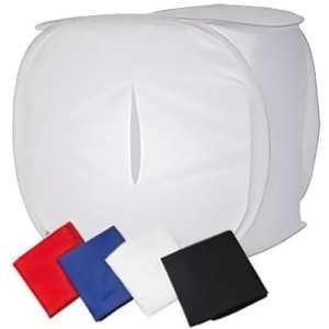 Amzdeal Studio Photo Portable 80cm*80cm*80cm avec 4 Fonds de Couleur (Rouge, Blanc, Bleu Noir),Tente de Studio Cube 32″ / 80CM pour Smartphone ou Appareil photo