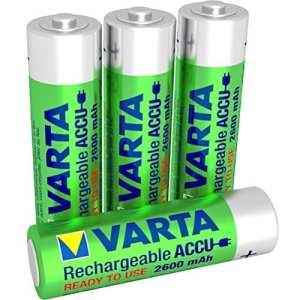 Varta Accu prêt à l'emploi – batterie rechargeable Mignon AA Ni-Mh (4-Pack, 2600 mAh)