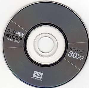 2x Maxell vierge Mini 8cm DVD + RW Réinscriptible Gris métallisé (4x 30min 1,4Go)