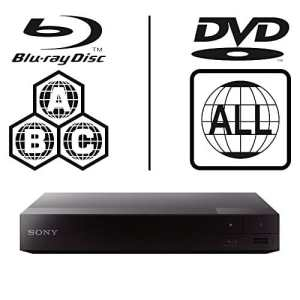 SONY BDP-S3700 Lecteur Multi Zone Region Code Free Blu Ray WI-FI – DVD – CD Player – PAL/NTSC – Worldwide Voltage 100~240V – 1 USB, 1 HDMI, 1 COAX, 1 ETHERNET Connections + Câble HDMI Haute Performance Compatible Ethernet / 2M