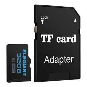 ELEGIANT 32 Go Carte Mémoire Micro SD TF Storage Classe 10 avec Adaptateur SDHC