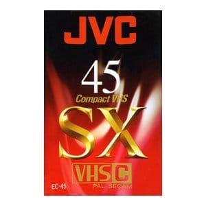 JVC Cassette VHS-C Série SX 45 mn