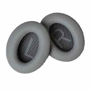 Oreillettes de remplacement pour casques Bose Quiet Comfort 35 (QC35, Gris)