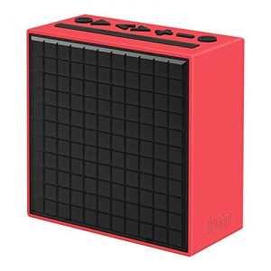 Divoom Timebox Rouge enceinte Bluetooth 5-watts Radio FM reveil et affichage Leds