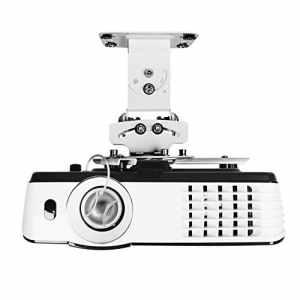 Duronic PB05XB Support vidéoprojecteur Universel inclinable et Rotatif – Capacité 13,6 kg – Installation Plafond – Idéal pour Home cinémas, Jeux vidéos, présentations, conférences