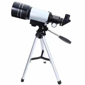 Télescope Astronomique Debutant, SKM 70/300 Telescope de Bureau Astronomique Réfracteur avec Trépied 150X Maximum pour Enfants Observation Ciel Étoile Lune Oiseaux