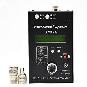AW0 7A fréquencemètre analyseur d'impédance d'antenne UHF VHF RA-07A SWR HF pour l'analyseur d'impédance pour la fréquence MeHam Radio Hobbists