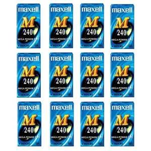 Boîte de 12Maxell M 240VHS vierge VHS vidéo cassettes