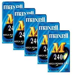 Boîte de 5Maxell M 240VHS vierge VHS vidéo cassettes