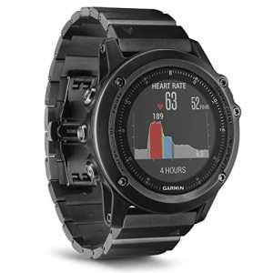Garmin Fenix 3 Sapphire Gray HR – Montre GPS Multisports Outdoor avec Cardio Poignet – Bracelet Métal