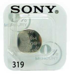 Sony 319 SR527SW Pile bouton à l'oxyde d'argent 0% de mercure pour montre