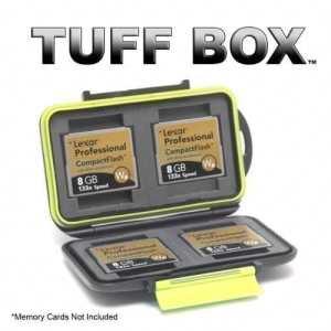 Tuff Box Étui pour 4 cartes mémoire Compact Flash