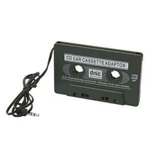 Audio de voiture Cassette adaptateur CD MD Mp3 Mp4 Nano Jack 3,5 mm Noir