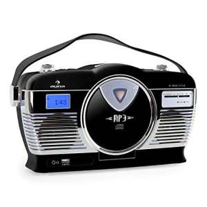 Auna rcd-70Radio Vintage FM USB CD Crème