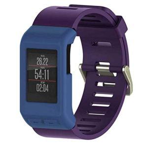 Bracelet à la Mode, fittingran Silicone Protector Manchon de Rechange Smart Watch Phone Couverture, étui pour Garmin vivoactive GPS Smart Watch HR Bleu