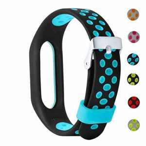 Bracelet à la Mode, fittingran Xiaomi Mi Band 2Sangle de Rechange, Soft réglable Remplacement Bracelet Sport pour Xiaomi Mi Band 2 Bleu