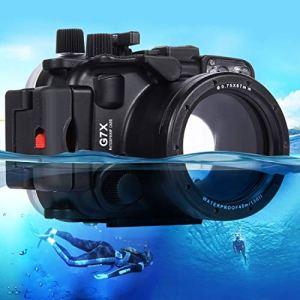 Easy Go Shopping Boîtier étanche pour Appareil Photo étanche Canon G7 X 40m avec boîtier de plongée sous-Marin Accessoires