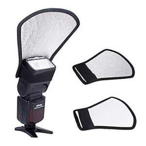 Forfar Flash Softphone diffuseur Deux Côtés Flash d'appareil Photo Reflector Photo Bounce Card Diffuser la Softbox exter