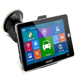 """GPS Système de Navigation GPS pour voiture Xgody Camion Poids Lourds Navigator 7"""" écran Tactile Capacitif Support appels mains libres Speed Camera Alerte Cartes à vie gratuite"""