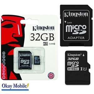 Kingston Carte mémoire microSD 32 Go d'origine pour Mediacom phonepad Duo – 32 Go