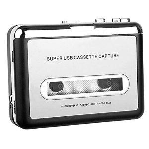 Lecteur de Cassette Portable Convertir Un Lecteur MP3 avec Un câble USB Capteur Audio Lecteur de Musique Plug and Play USB JBP-X