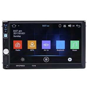 Prettygood7Car Lecteur MP5, 7écran Tactile 2DIN Bluetooth Android Voiture Lecteur MP5GPS Navigator Carte