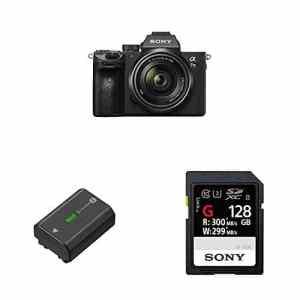 Sony – Pack Appareil Photo Hybride ILCE-7M3K + Batterie NP-FZ100 + Carte Mémoire 128Go SFG1G