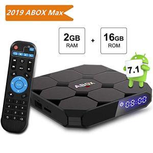 TV Box Android 7.1, [2g + 16G] Abox A1MAX 4K Smart Player TV Box Set Top TV Box Amlogic s905W 64bits Quad Core