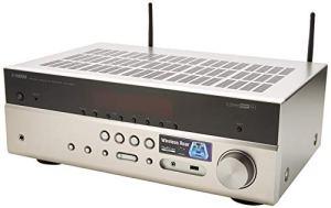 YAMAHA RX-V485 – Amplificateur Home Cinema 145W – Système Bluetooth, Wifi, Airplay, Multiroom – Compatible avec smartphones et ordinateurs – Titane
