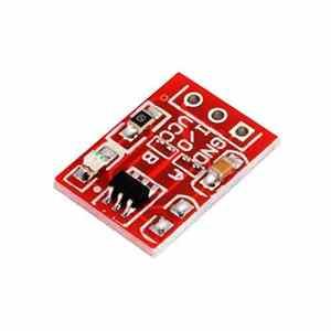 FengYun TTP223 Module Bouton Tactile, Bouton Tactile capacitif DE 2.5 à 5.5 V, Interrupteur Tactile capacitif à Verrouillage Automatique/sans Verrouillage pour Arduino.
