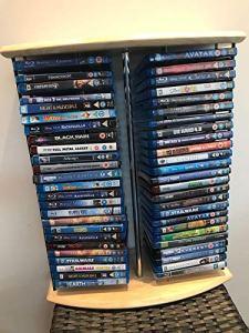 Generic Support de DVD en Bois de hêtre Noir