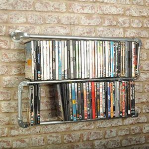 Generic Tyle Étagère de Rangement pour DVD et DVD Style rétro Vintage Industriel