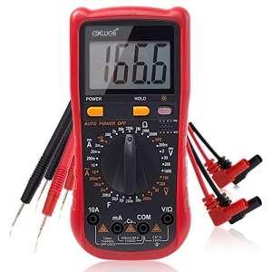 Multimètre, Exwell Multimètre Numérique Voltmetre Ampèremètre Ohm AC DC Circuit Testeur