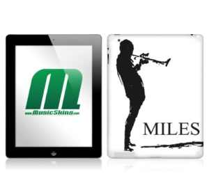 MusicSkins Sticker Miles Davis – Sketch White pour iPad 2 (import Royaume Uni)