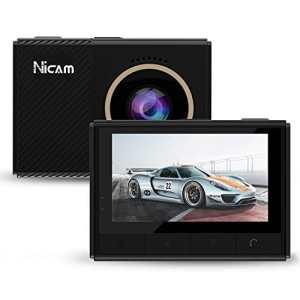 NICAM HD 1080p Caméra Vidéo Écrans de plafonnier Véhicule Voiture Dash Cam Arrière Car Vidéo (2,45 inch)