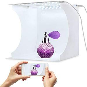 Portable Photo Studio Mini Kit De Tente De Tir Boîtier Pliant Photographie boîte à lumière avec luminosité 2×20 cube LED Bande 8 «6 Couleurs Toile de Fond