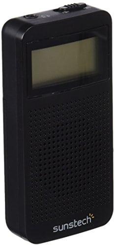Sunstech rpds12–Radio Portable numérique AM/FM avec Haut-Parleur intégré et Fonction Sleep, Couleur Noir