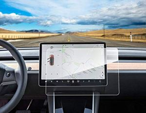 Topfit Film de Protection d'écran en Verre trempé 9H Protection Contre Les Rayures et Les Chocs pour Tesla Model 3