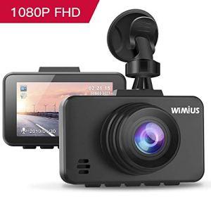 Caméra Embarquée Voiture, WIMIUS DashCam Voiture Enregistreur de Conduite Full HD 1080P 2.45″ LCD, 170°Grand Angle, G-Capteur, WDR, Détection de Mouvement, Moniteur de Stationnement