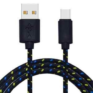 Familizo 3M / 10FT USB Type C Câble USB 2.0 vers USB Type-C Câble de Données de Charge Rapide pour Longueur (Environ): 3M / 10FT, Noir