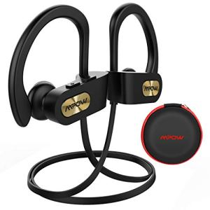 Mpow Écouteur sans Fil IPX7 Étanche, 10H Autonomie Écouteurs Bluetooth Sport avec Micro Anti-Bruit, Hi-FI Stéréo Oreillette Bluetooth pour Sport Gym Course à Pieds Vélo Voyage